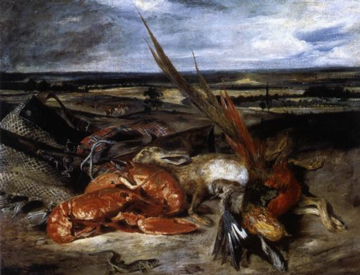 eugene delacroix still life with lobster paintings