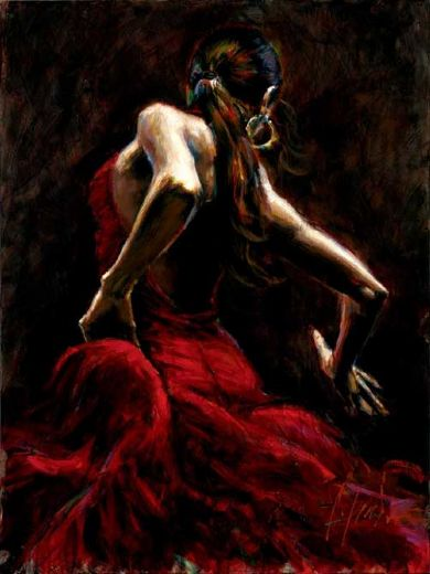 fabian perez dancer in red posters