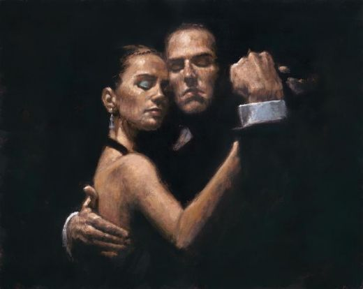 fabian perez face of tango ii paintings