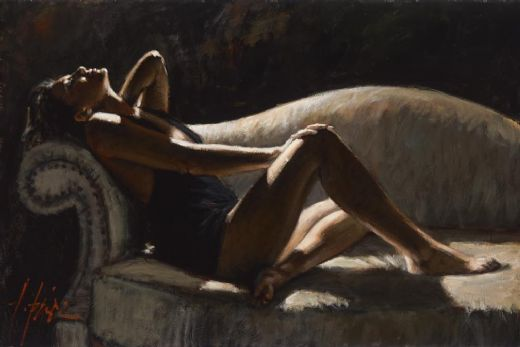 fabian perez paola on thhe couch paintings