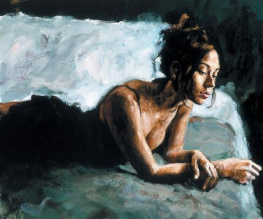 fabian perez renee on bed i paintings