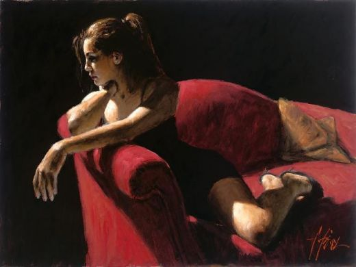 fabian perez rojo sillion iii second state paintings
