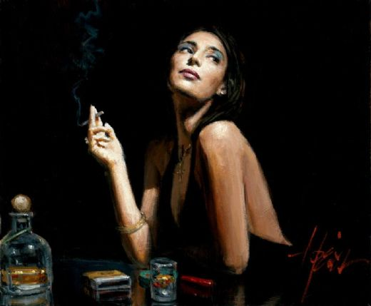 fabian perez the singer painting