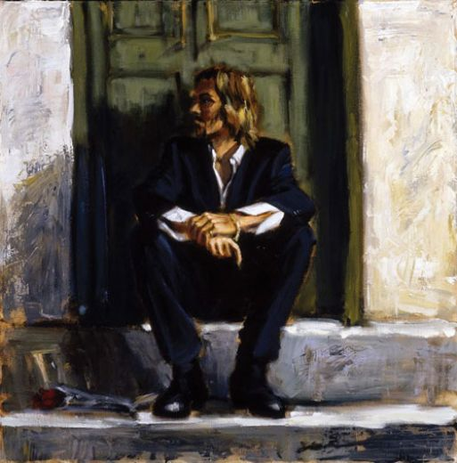 fabian perez waiting for the romance to come paintings