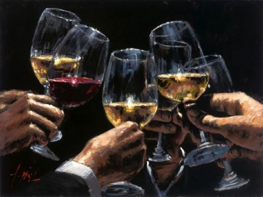fabian perez white and red painting