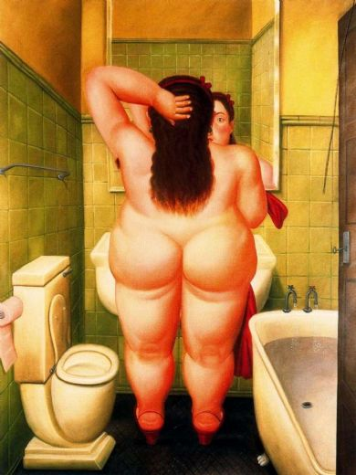 fernando botero el bano paintings