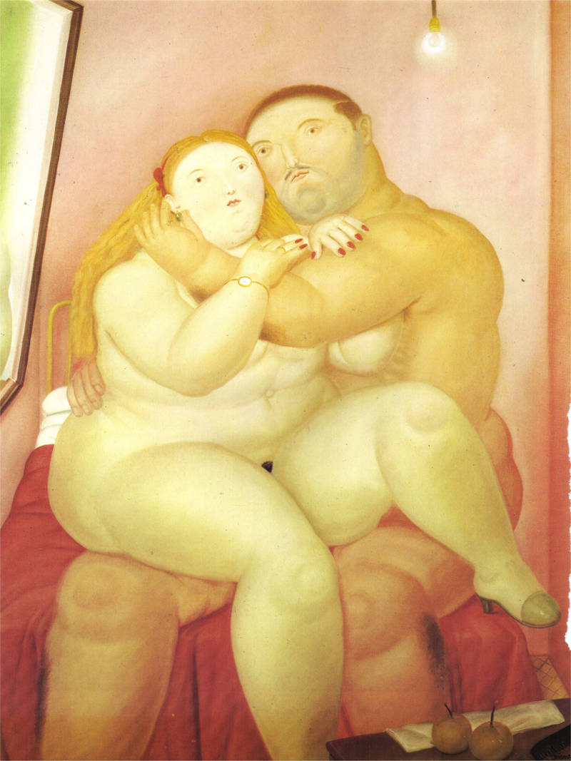 fernando botero lovers paintings