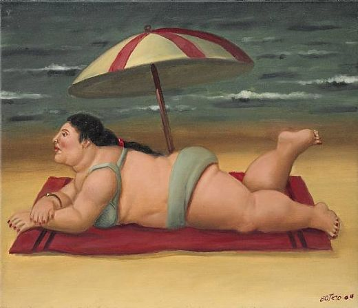 fernando botero the beach painting