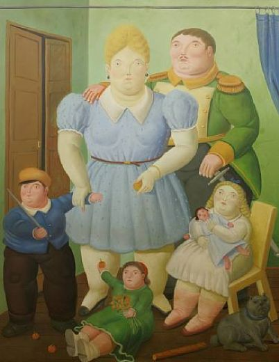 fernando botero the general and his family paintings