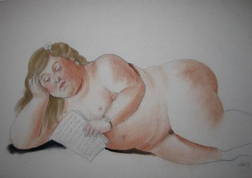 fernando botero the love letter painting