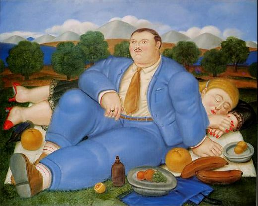 fernando botero the nap 1982 paintings