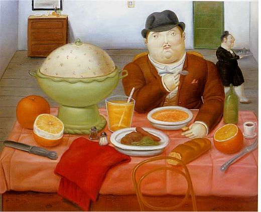 fernando botero the supper 1987 painting