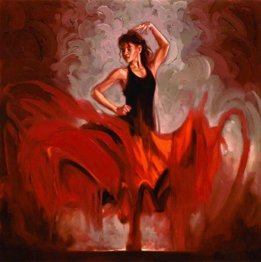 Flamenco dancer crescendo i painting id 78297 flamenco dancer crescendo i p - Peinture danseuse de flamenco ...