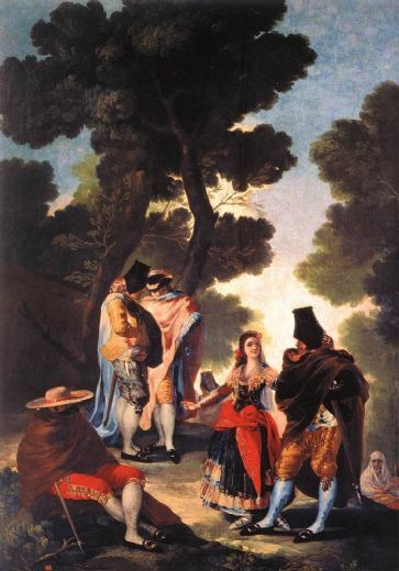 francisco de goya a walk in andalusia oil painting