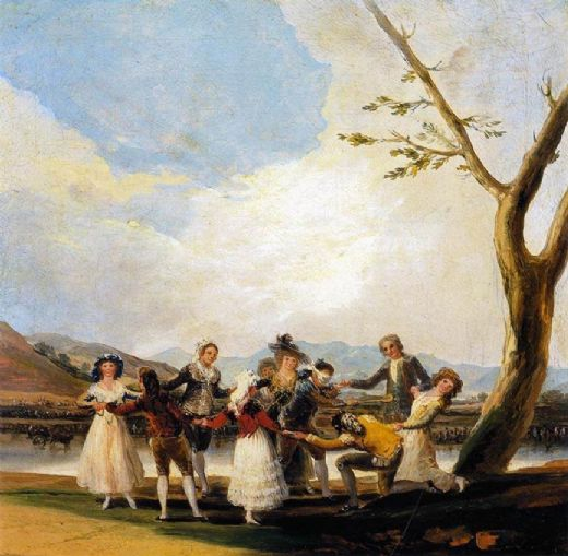 francisco de goya blind man s buff painting