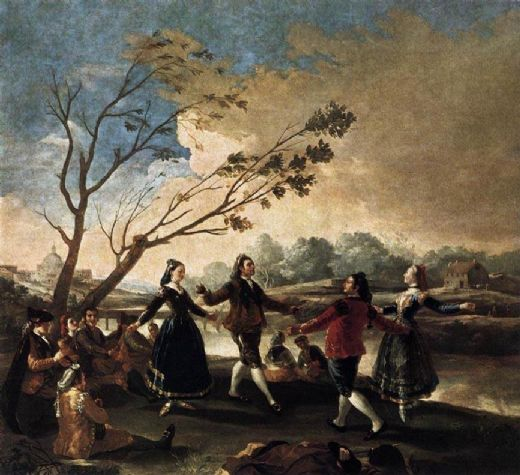 francisco de goya dance of the majos at the banks of manzanares oil painting