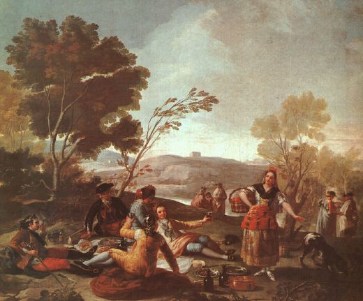 francisco de goya picnic on the banks of the manzanares paintings