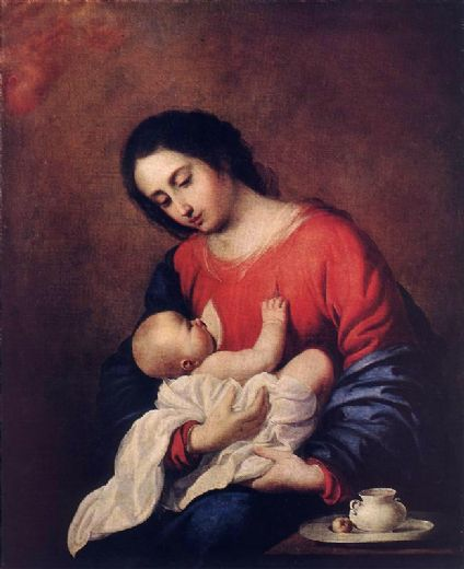 francisco de zurbaran madonna with child paintings