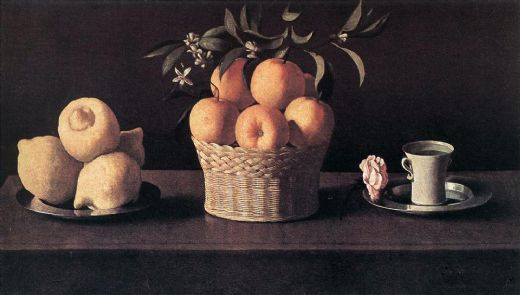 francisco de zurbaran still life with oranges painting