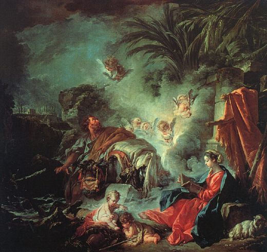 francois boucher the rest on the flight into egypt oil painting