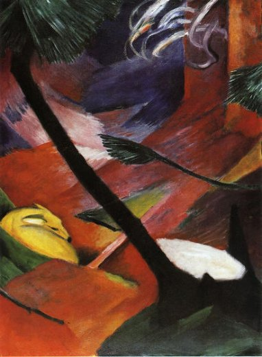 franz marc deer in the forest iii oil painting