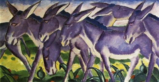 franz marc donkey frieze painting