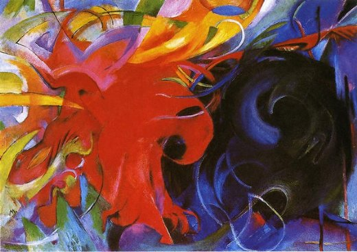 franz marc fighting forms painting