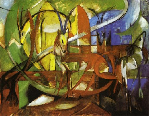 franz marc gazelles paintings