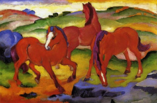 franz marc grazing horses iv paintings