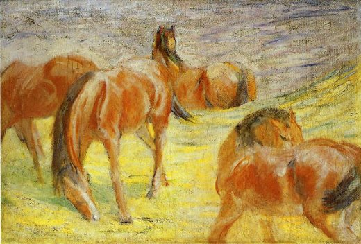franz marc grazing horses paintings