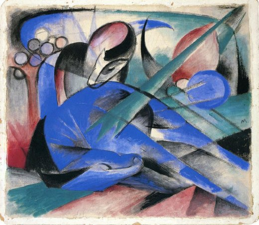 franz marc horse asleep painting
