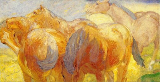 franz marc large lenggries horse painting oil painting