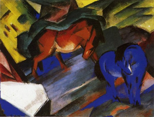 franz marc red and blue horse paintings