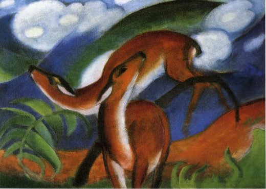 franz marc red deer ii paintings