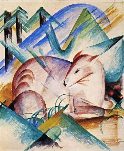 franz marc red deer painting