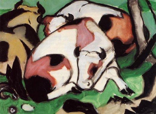 franz marc ruhende kuhe posters
