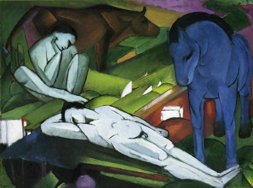 franz marc shepherds painting