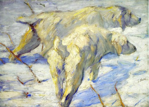 franz marc siberian sheepdogs painting