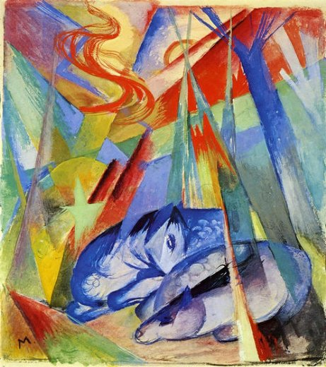franz marc sleeping animals paintings