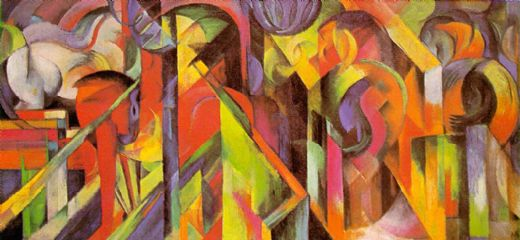 franz marc stables painting