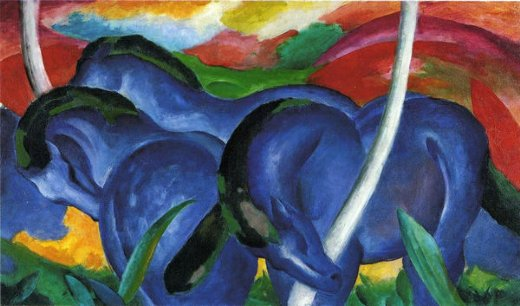 franz marc the large blue horses paintings