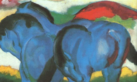 franz marc the little blue horses paintings