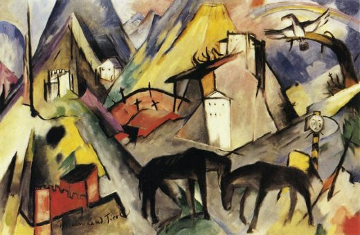 franz marc the unfortunte land of tyrol paintings