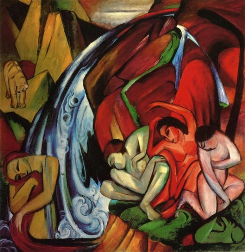 franz marc the waterfall paintings