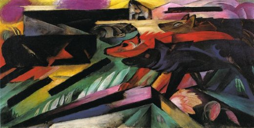 franz marc the wolves paintings