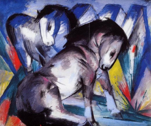 franz marc two horses oil painting