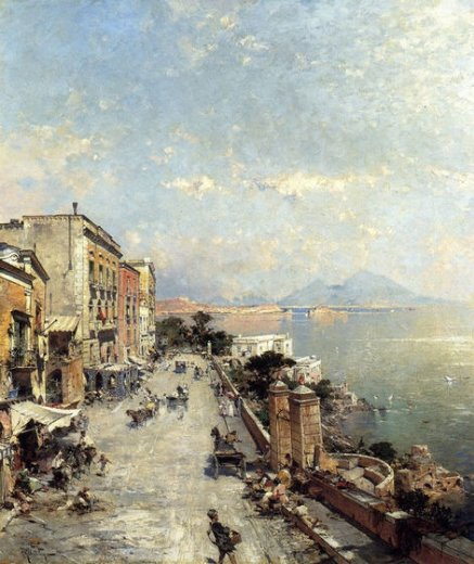 franz richard unterberger posilipo naples painting