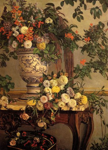 frederic bazille flowers paintings