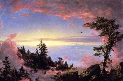 frederic edwin church above the clouds at sunrise paintings