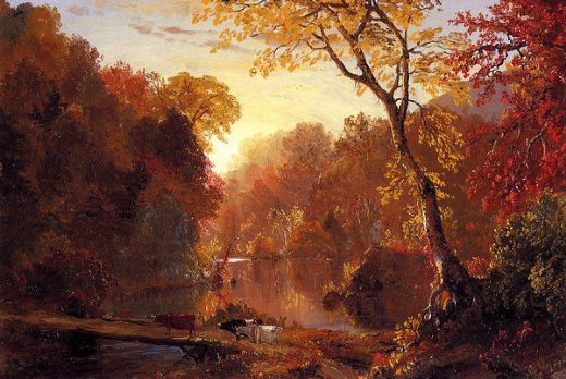 frederic edwin church autumn in north america painting